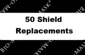 Replacement Bio-Mask Shields 50 Count (BL-10-50)