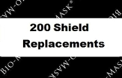 Replacement Bio-Mask Shields 200 Count (BL-10-200)