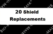 Replacement Bio-Mask Shields 20 Count (BL-10-20)